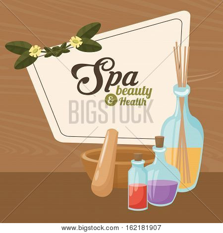 spa beauty and health elements treatment care vector illustration eps 10