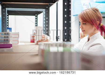 Young Doctor In Warehouse