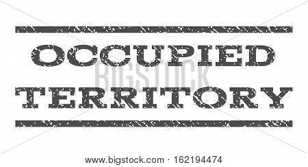 Occupied Territory watermark stamp. Text caption between horizontal parallel lines with grunge design style. Rubber seal stamp with dirty texture. Vector gray color ink imprint on a white background.
