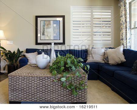 Elegant vardagsrum utrymme