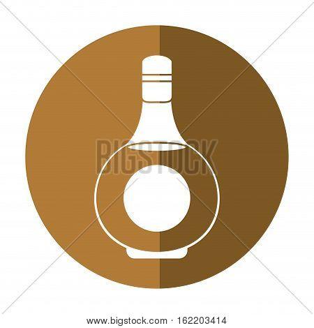 cognac bottle alcochol drink style shadow vector illustration eps 10