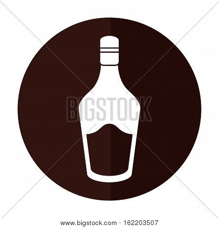 bottle cream whiskey liqueur icon shadow vector illustration eps 10