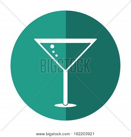 glass cocktail martini with olive shadow vector illustration eps 10