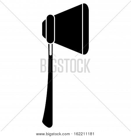 silhouette fire ax tool equipment vector illustration eps 10
