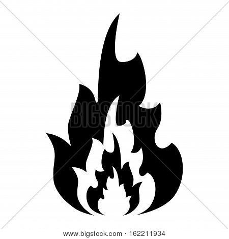 silhouette hot flame spurts fire design vector illustration eps 10