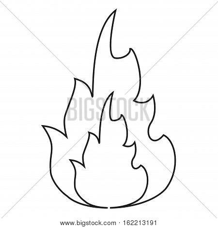 hot flame spurts fire design line vector illustration eps 10