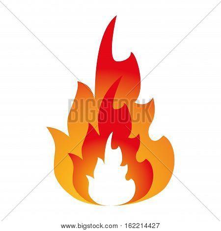 hot flame spurts fire design vector illustration eps 10