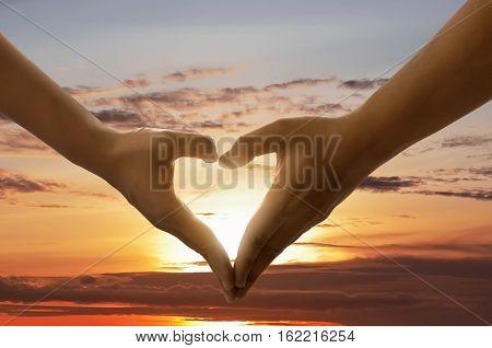 Heart Shape From Hands
