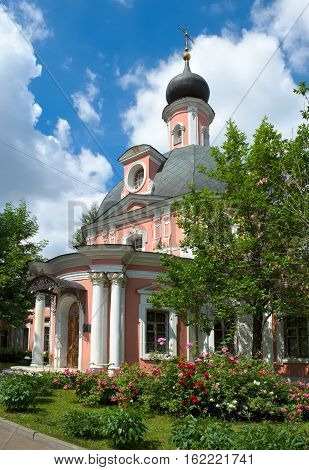 Orthodox Church of Catherine the Great Martyr on Vspolye built in 1766-1775 by project Karl Blanc, landmark, Moscow