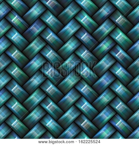Twill Weave Texture. Abstract Geometric Background Design. Seamless blue Multicolor Pattern.