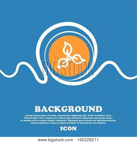 Pictograph Of Eco Sign. Blue And White Abstract Background Flecked With Space For Text And Your Desi