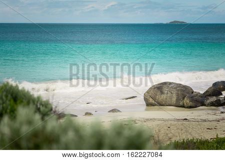 Seascape of Cape Leeuwin along the Indian Ocean Augusta Western Australia .