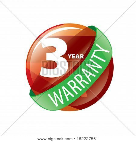 logo 3 years warranty. Vector illustration of icon poster