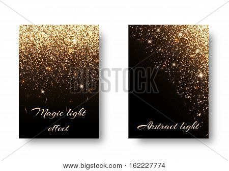 Set light backgrounds for design of greetings card. Christmas pattern with brilliant effect.
