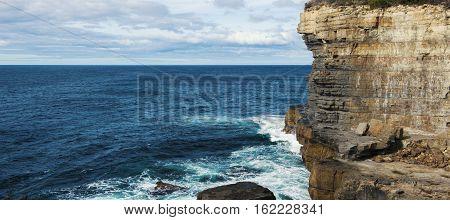 View Of Devils Kitchen Beach, Tasmania