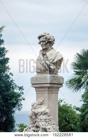 Statue of honour Hector Berlioz in monaco