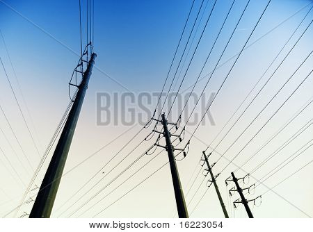 Electrical towers and powerlines in Arizona