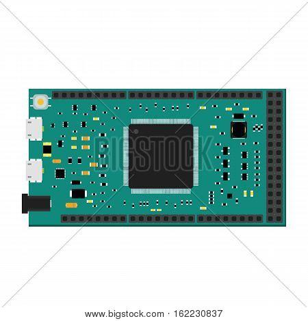 DIY electronic mega board with a microcontroller.