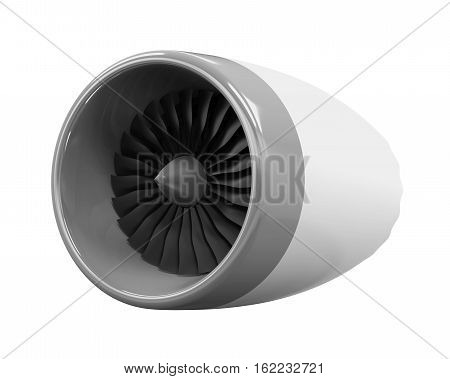 Jet Engine isolated on white background. 3D render