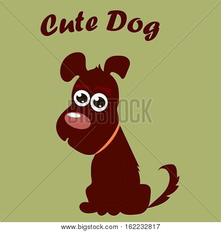 High quality original trendy vector illustration of a cute dog or puppy. Dog best friend