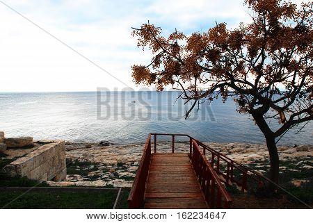 Greece, Athens. Seafront of Piraeus. View to the sea