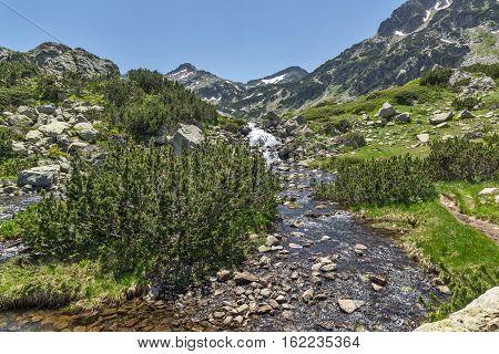 Landscape with River near Sivrya peak, Pirin Mountain, Bulgaria