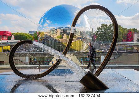 Anti Gravitation Sculpture At The Cite Des Sciences Et De L Industrie In The Parc De La Villette, Pa