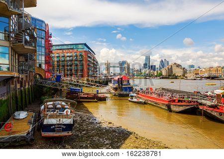 The River Thames At Southwark, London, Uk