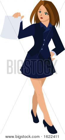 Businesswoman Holding A Piece Of Paper (Ai8)