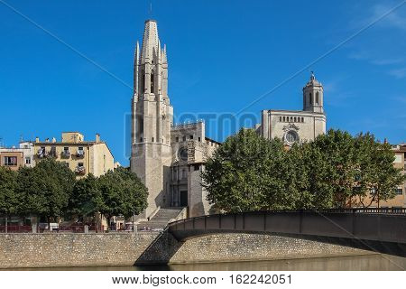 The Historical Part Of The Spanish City Of Gerona