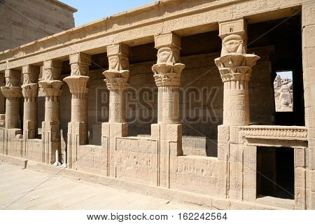 Colonnade In Philae Temple