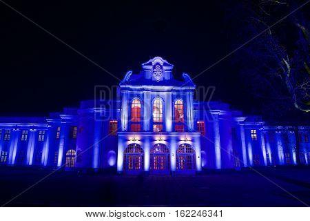 KAUNAS, LITHUANIA - NOVEMBER 12, 2015: Light festival