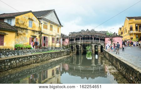 Old Architecture In Hoi An, Vietnam