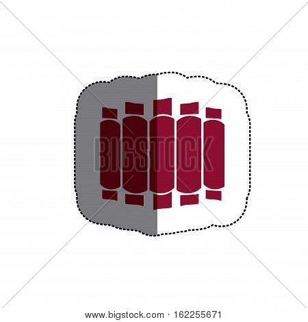 Ribs icon. Bbq menu steak house food and meal theme. Isolated design. Vector illustration