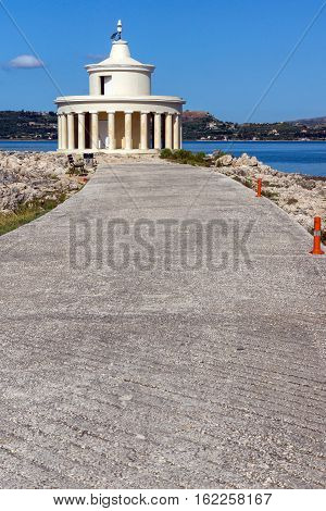 Seascape of Lighthouse of St. Theodore at Argostoli,Kefalonia, Ionian islands, Greece
