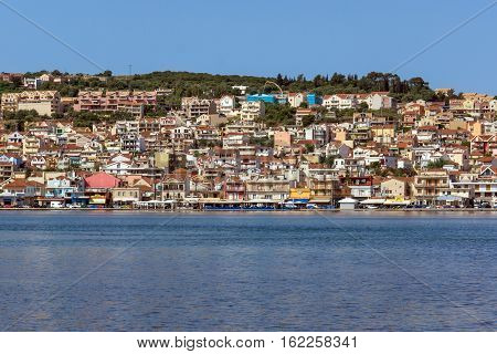 Panoramic view of Argostoli town, Kefalonia, Ionian islands, Greece
