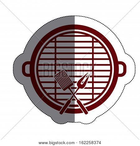 Grill and tools icon. Bbq menu steak house food and meal theme. Isolated design. Vector illustration