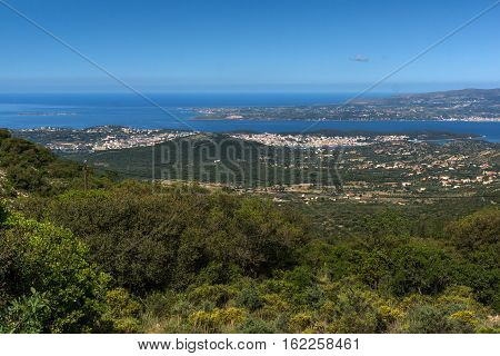 Amazing landscape to Argostoli town, Kefalonia, Ionian islands, Greece
