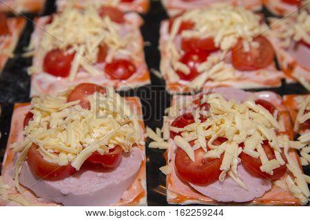 Quick Mini Pizzas Ready For Baking.