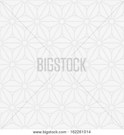 Floral ornament. White Neutral Seamless Pattern for Modern Design in Flat Style. Tileable Geometric Vector Background.