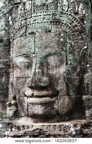 sculpture of Bayon temple in Angkor Thom