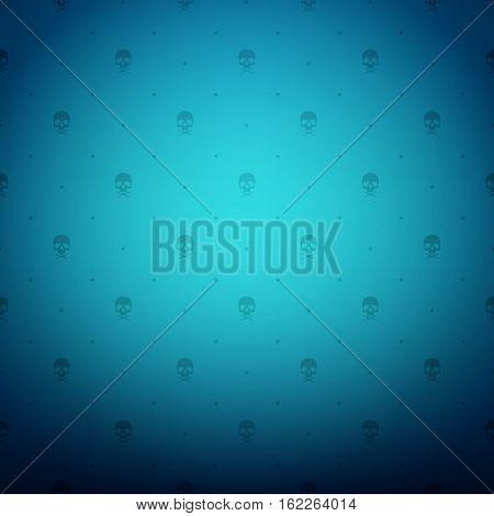Vintage ornament blue background wallpaper. Ready for your design. Vector Illustration.