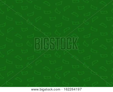 Money green seamless pattern background with dollar or other currency flying notes