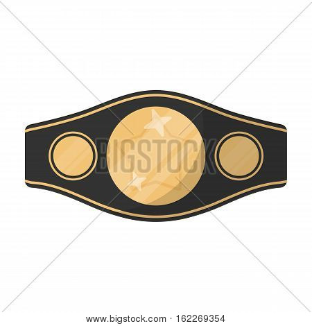 Boxing championship belt icon in cartoon style isolated on white background. Boxing symbol vector illustration.