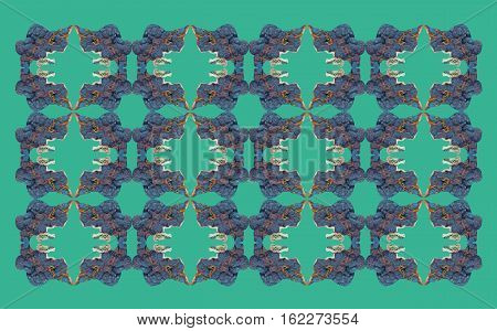 Pattern made of minerals tetrahedrite  on different background