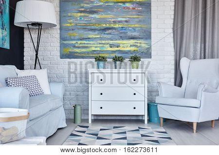 Pastel Living Room