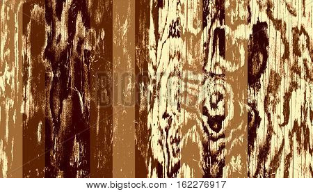Grunge wooden texture used as background. Brown monochrome