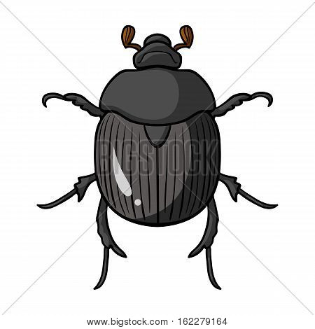 Dor-beetle icon in cartoon design isolated on white background. Insects symbol stock vector illustration.