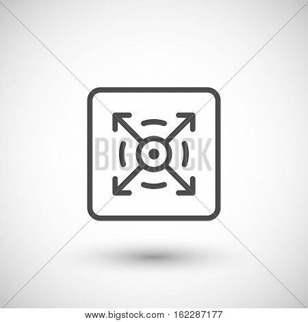 Three dimensional line icon isolated on grey. Vector illustration