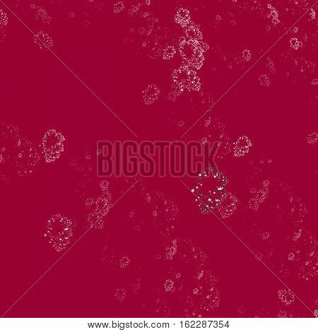 Strange formations of whitish fractal on dark red tile